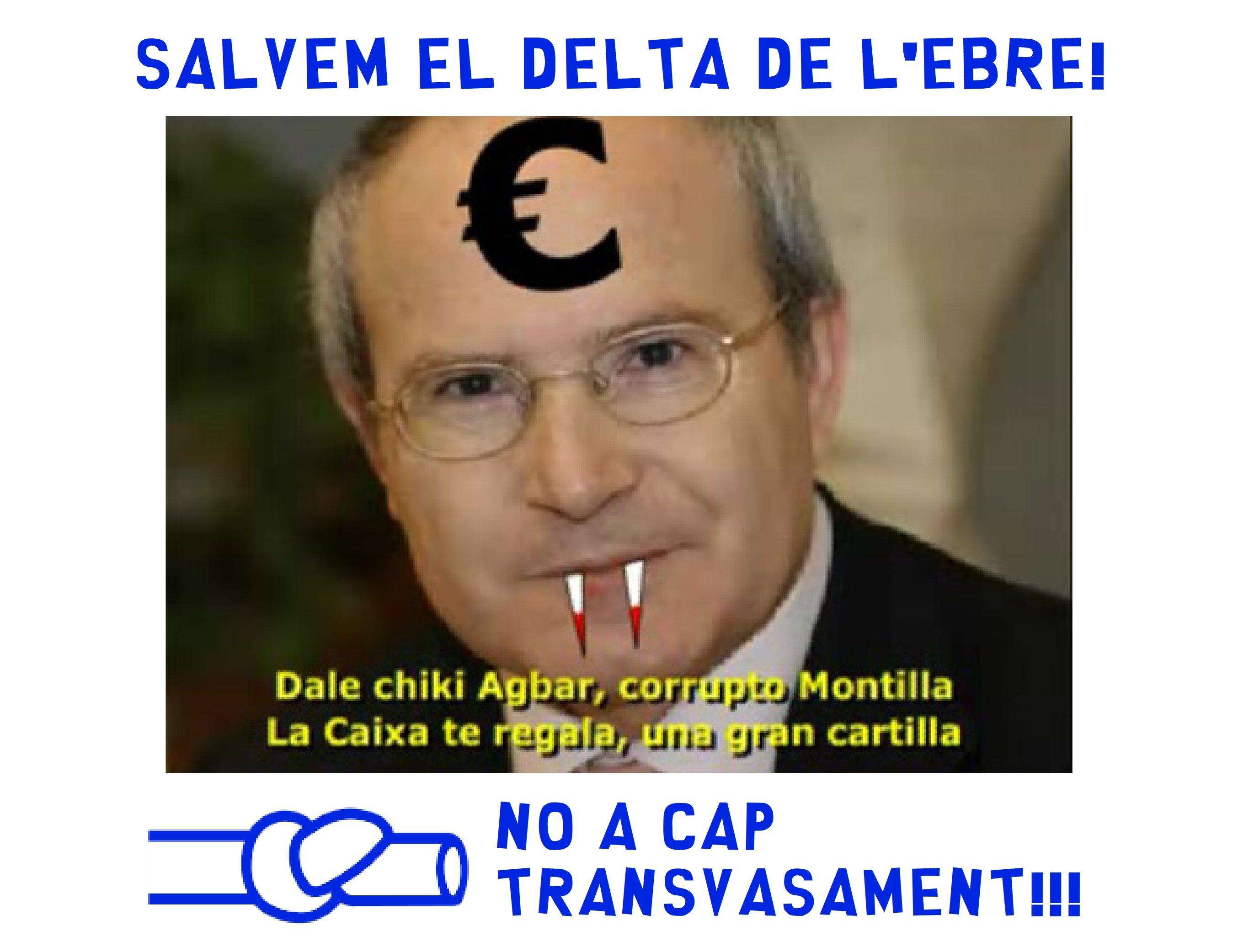 Montilla, PSC, PSOE, Pegatina MINI anti trasvase del Ebro