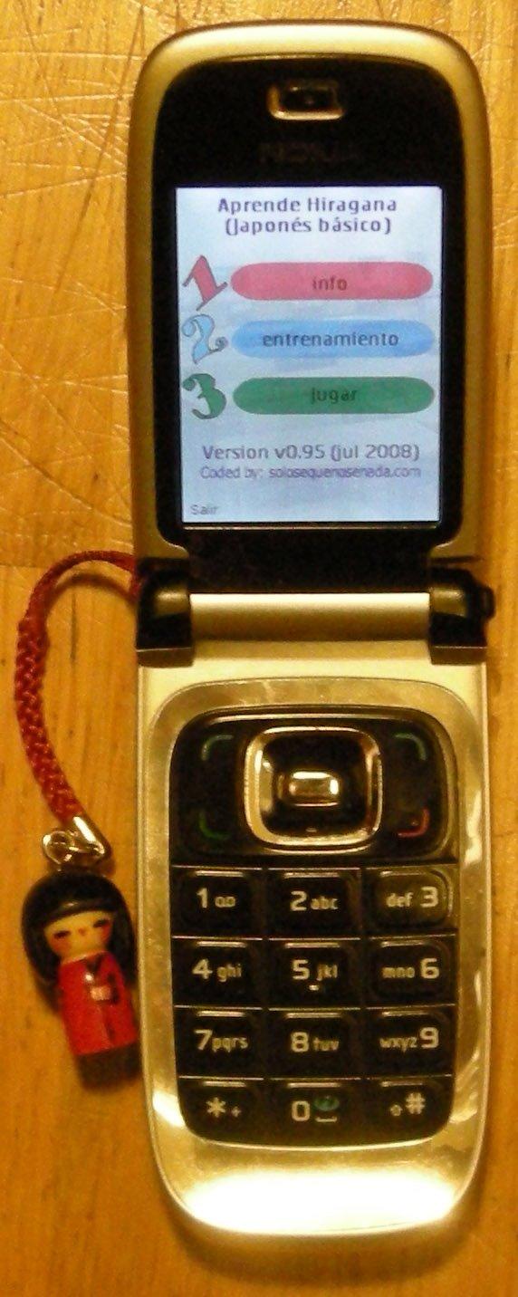Programa RosettaBabel funcionando en un móvil Nokia 6131