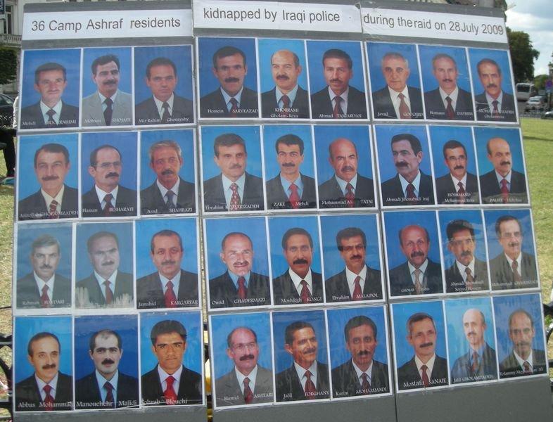 La mayoría de la oposición IRANÍ, secuestrada por la policia en IRAK. Es una verguenza.