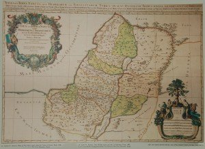 Antiguo mapa de 1650 donde aparecen las 12 tribus.