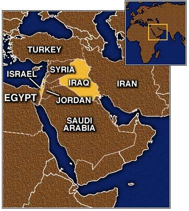 En el mapa podemos ver las actuales Irak, Israel y Egipto.
