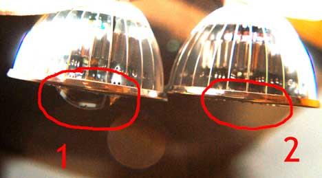 """El mismo ejemplo que el anterior, pero aquí se aprecia la """"lupa"""" que amplia el ángulo de luminosidad."""
