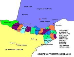Antigua Cataluña en marca hisanica