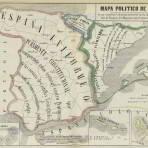 Mapa de España político y de historia de Catalunya